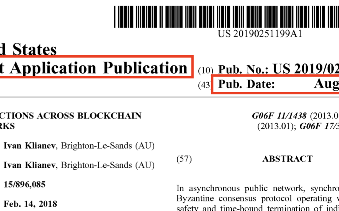 What is an early publication of a patent application?